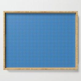 Blue Digi Checkerboard Serving Tray