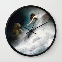Karl Wilhelm Diefenbach - To The Rescue - Digital Remastered Edition Wall Clock