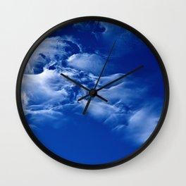 Dark blue sky Wall Clock