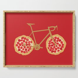 Bicycle Pizza Wheels Serving Tray