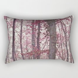 Ethereal Austrian Forest in Burgundy Rectangular Pillow