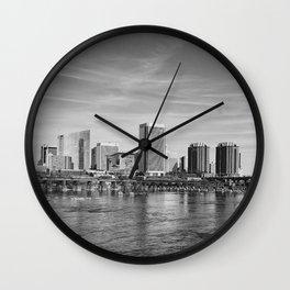 River City Skyline Wall Clock