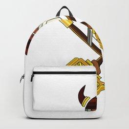 Golden Viking Minimal Art Backpack