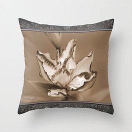 Double Asiatic Lily named Double Pleasure Throw Pillow