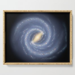 R Hurt - Artistic Representation of the Milky Way (2013) Serving Tray