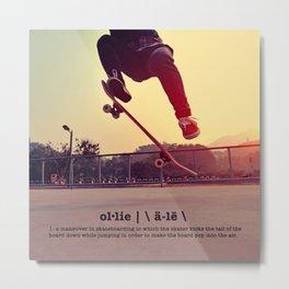 Ollie - Definition Metal Print