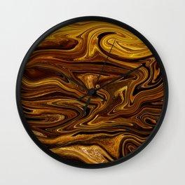 Wood Waves Texture Wall Clock