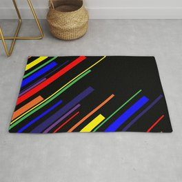 Diagonals - Rainbow Rug