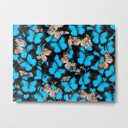 Colorful butterflies pattern Metal Print