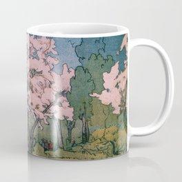Yoshida Hiroshi - Cherry Blossoms 8scenes, Sankeien Garden - Digital Remastered Edition Coffee Mug