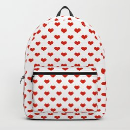 '80s Hearts - Red. Back to Basics Backpack