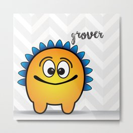 The Friendly Monster Project: Grover Metal Print