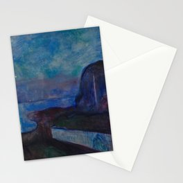 Starry Night by Edvard Munch Stationery Cards