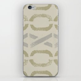 Shapes Of Love - Pastel Green Bold Pattern iPhone Skin