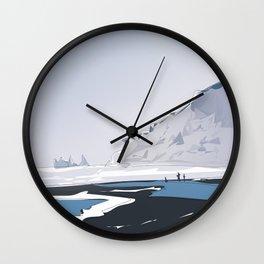 Vik Reynisfjara Black Sand Beach, Iceland Wall Clock