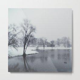 winter on the farm photograph Metal Print