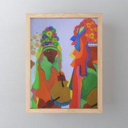 Festa do Rosario, Colorful Art, Brazil, Parade, Headdress and Drums Framed Mini Art Print