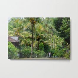 The Forager Through The Trees Metal Print