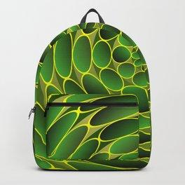 Filled green ellipses Backpack