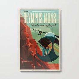 SpaceX Mars tourism poster / Olympus Mons Metal Print