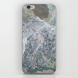 Snowbird Resort Trail Map iPhone Skin