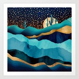 Indigo Desert Night Kunstdrucke