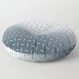 Diamond Plate Metal Pattern Floor Pillow