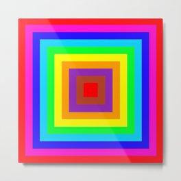 Multi coloured square background Metal Print