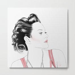 Marion Cotillard - Melancholia Serie Metal Print