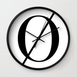 Minimalist Letter Ø Wall Clock
