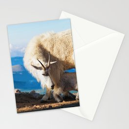 Mountain Goats Nanny And Kid Stationery Cards