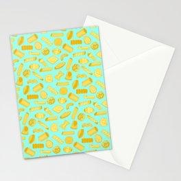Italian Restaurant Pasta Shapes Food Pattern Stationery Cards