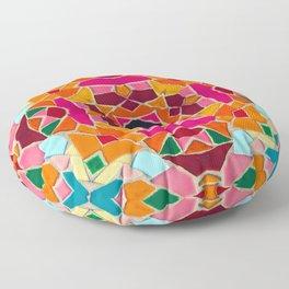 Geometric Power Floor Pillow