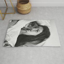 Lana Del Re-y with Cat, Stylish print, music icon , gift for her, Print, Poster Rug