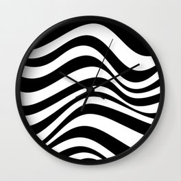 Wavy Stripes Wall Clock