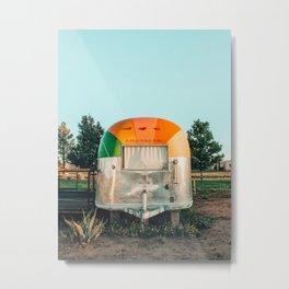 Rainbow trailer in Marfa, West Texas Metal Print