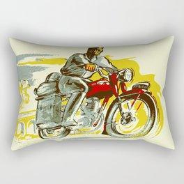 Retro vintage style FREEDOM motorcycle Rectangular Pillow
