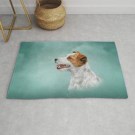 Jack Russell Terrier. Drawing Rug