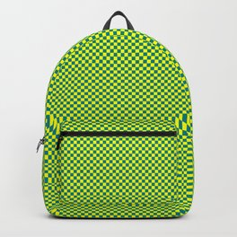 Yellow and sea green squares Backpack