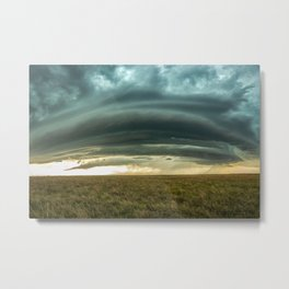 Filling the Void - Layered Storm in Western Nebraska Metal Print