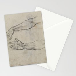 Michelangelo - Studies for the fresco 'The Drunkenness of Noah' in the Sistine Chapel (1509) Stationery Cards