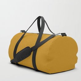 Best Seller Golden Mustard Solid Color Pairs w/ Sherwin Williams 2020 Trending Hue Auric Gold SW6692 Duffle Bag