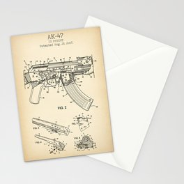AK-47 vintage patent poster Stationery Cards