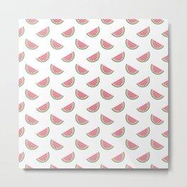 Fun Neck Gaiter Watermelon Slices Neck Gator Metal Print