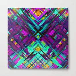 Colorful digital art splashing G472 Metal Print