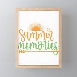 Summer memories - Adventure Design Framed Mini Art Print