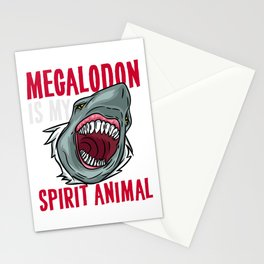 Megalodon is my Spirit Animal - Prehictoric Shark  Stationery Cards