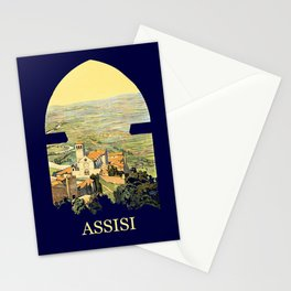 Vintage Litho Travel ad Assisi Italy Stationery Cards