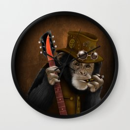 Rockers of the apes Wall Clock