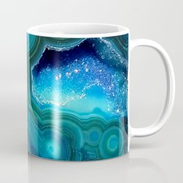 Teal Blue Agate II Coffee Mug
